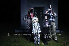 Fun Beetlejuice Family Costume... Coolest Homemade Costumes