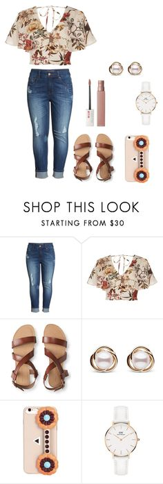 """""""Untitled #197"""" by britney-pitts ❤ liked on Polyvore featuring Melissa McCarthy Seven7, River Island, Aéropostale, Trilogy, Fendi, Daniel Wellington and Maybelline"""