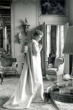 Mona von Bismarck in her Syrie Maugham decorated Paris apartment.