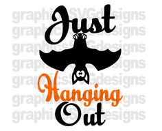 Just Hanging Out SVG File For Cricut and Cameo by SukiesDesigns
