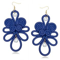Polymer Clay Chinese Knot Earrings
