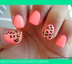 Neon Leopard Nails | Christina G.'s (christygrieves) Photo | Beautylish