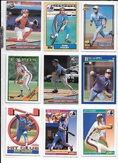 cool Gary Carter plus 8 more Expos baseball card lot - For Sale View more at http://shipperscentral.com/wp/product/gary-carter-plus-8-more-expos-baseball-card-lot-for-sale/