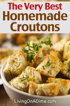 New Recipes, Salad Recipes, Dinner Recipes, Cooking Recipes, Favorite Recipes, Healthy Recipes, Healthy Soups, Dinner Ideas, Home Made Croutons Recipe