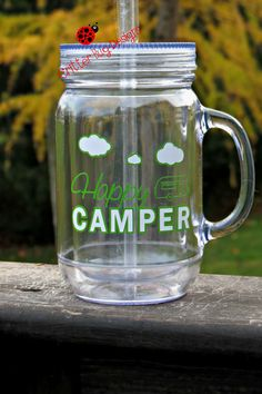 READY TO SHIP Happy Camper double walled 16 by CritterBugDesigns