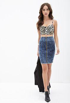 Denim Pencil Skirt | FOREVER21 - 2000082797