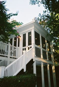 Screen porch off master bedroom ~ Jason would probably move me before doing this...but this would be so neat on the back of my house!