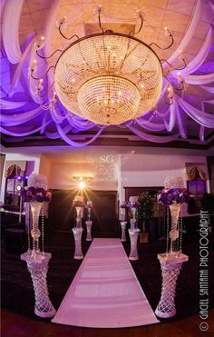 Arabic Wedding Mandap, Indian wedding mandap, Reception stage, Suhaag Garden, Florida wedding decorator, ceiling drapes, aisle, crystals, chandelier