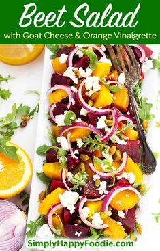 Roasted Beet Salad, Beet Salad Recipes, Chicken Salad Recipes, Roasted Beets Recipe, Baby Beets Recipe, Pickled Beet Salad, Arugula Recipes, Smoothie Recipes, Vegetable Recipes