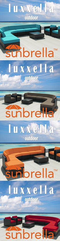 Luxxella Outdoor Wicker Furniture set