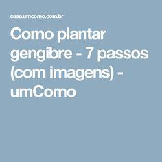 Como plantar gengibre - 7 passos (com imagens) - umComo