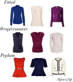 Tops and cardigans for neat hourglass body shape