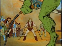 "Some Post-Apocalyptic scenery from ""Thundarr The Barbarian"""