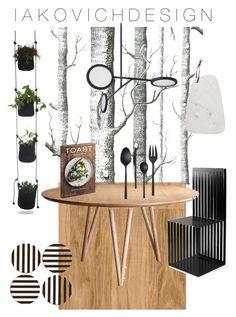 """Black&White kitchen"" by iakovichdesign on Polyvore featuring interior, interiors, interior design, дом, home decor, interior decorating, Cole & Son, David Gaynor, Henri Bendel и Bloomingville"