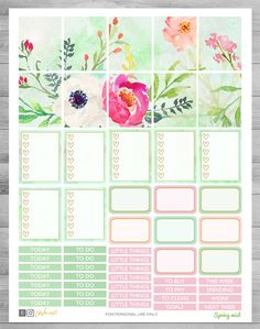 Printable planner stickers Watercolor floral stickers use with Erin Condren weekly theme kit Cutfiles stickers butterfly garden rain Free Planner, Happy Planner, Wash Tape, Printable Planner Stickers, Erin Condren Life Planner, Sticker Paper, Filofax, Floral Watercolor, Giveaways