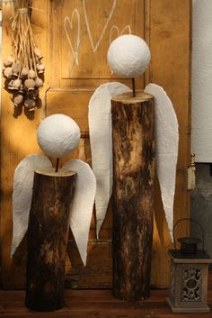 U nás na kopečku: . aneb příprava na ANDĚLOBRANÍ. Christmas Wood Crafts, Outdoor Christmas, Christmas Angels, Rustic Christmas, Christmas Projects, Christmas 2019, Simple Christmas, Holiday Crafts, Christmas Ornaments