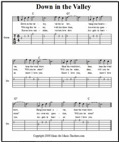 Down in the Valley easy guitar tabs, FREE! This beginner guitar song is great for learning beginning finger-picking. Guitar Tabs Songs, Easy Guitar Tabs, Easy Guitar Songs, Ukulele Tabs, Guitar Sheet Music, Guitar Notes, Guitar Songs For Beginners, Basic Guitar Lessons, Violin Lessons
