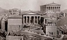 220 BCE Rise of Greece - BFR92R The Acropolis, Athens, Greece as it would have appeared in ancient times. Photograph: Classic Image/Alamy