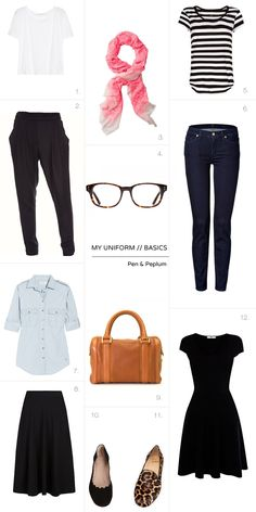 My uniform - capsule wardrobe basics