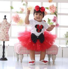 Minnie Birthday Tutu - Couture Birthday Tutu, Itty Bitty Toes www.ittybittytoes.com