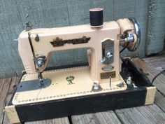 Pink Atlas Deluxe Sewing Machine by CandilandArt on Etsy https://www.etsy.com/listing/225369027/pink-atlas-deluxe-sewing-machine
