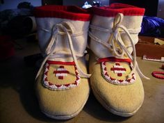 MOCCASINS and the picture tutorial on how to make them.