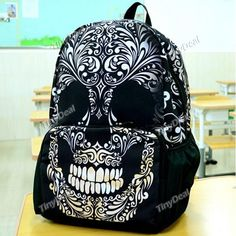 Casual Skull Printing Cool Style Backpacks DBA-367977