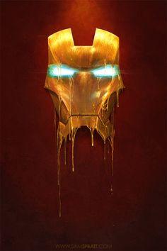 Marvel Comics Gilded Iron Man Illustration by Sam Spratt Marvel Comics, Marvel Heroes, Marvel Characters, Iron Men, Iphone 6 Wallpaper, Marvel Wallpaper, Wallpapers Ipad, Iron Man Wallpaper, Pretty Wallpapers