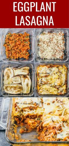 Best baked eggplant lasagna I've ever had! It's an easy and healthy recipe with layers of eggplant, shredded cheese, and a meat sauce with spinach Super savory, comforting, and meaty! This casserole is part of Eggplant lasagna - Low Carb Keto, Low Carb Recipes, Diet Recipes, Vegetarian Recipes, Cooking Recipes, Healthy Recipes, Cooking Tips, Recipes With Eggplant Healthy, Baked Eggplant Recipes