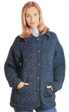 """Country Jacket"" free knitting pattern"