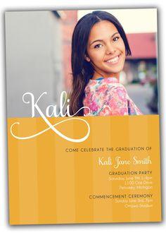 Kali Graduation Announcement