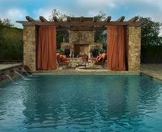 Tuscan pool retreat