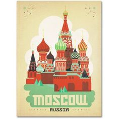 Trademark Fine Art Moscow, Russia Canvas Art by Anderson Design Group, Size: 35 x 47, Multicolor