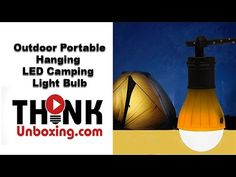Outdoor Portable Hanging 3 LED Camping Tent Light Bulb Fishing Lantern L...