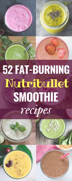 Put your new Nutribullet to good use with these 52 fabulous nutribullet recipes . Put your new Nutribullet to good use with these 52 fabulous nutribullet recipes Smoothies Weight Loss Meals, Weight Loss Smoothie Recipes, Fast Weight Loss Tips, Losing Weight, Detox Diets For Weight Loss, Low Calorie Smoothie Recipes, Nutribullet Juice Recipes, Ninja Smoothie Recipes, Weight Loss Protein Shakes