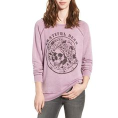 Women's Junk Food Grateful Dead Burnout Sweatshirt ($92) ❤ liked on Polyvore featuring tops, hoodies, sweatshirts, dawn, raglan sweatshirt, vintage sweatshirts, burnout top, raglan top and pullover sweatshirt