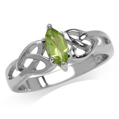 Natural Peridot 925 Sterling Silver Celtic Knot Heart Ring Size 95 >>> Find out more about the great product at the image link.(This is an Amazon affiliate link and I receive a commission for the sales)