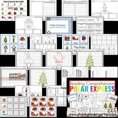 Polar Express print and play pack - polar express lesson plans - christmas lesson plans