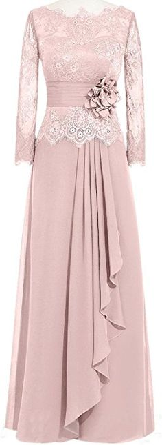 online shopping for Sweet Bridal Women's Long Sleeve Lace Mother The Bride Dresses from top store. See new offer for Sweet Bridal Women's Long Sleeve Lace Mother The Bride Dresses Long Sleeve Evening Dresses, Chiffon Evening Dresses, Formal Evening Dresses, Evening Gowns, Lace Chiffon, Dress Brokat, Nice Dresses, Prom Dresses, Muslim Dress