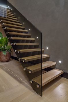 Modern Staircase Design Ideas - Stairways are so typical that you do not provide a second thought. Check out best 10 examples of modern staircase that are as sensational as they are . Interior Stairs, Interior Exterior, Interior Modern, Interior Ideas, Modern Interiors, Interior Design, Stairs Architecture, Interior Architecture, Stairway Lighting