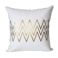 Metallic Gold Chevron Pillow Cover by KyleWayneTaylorHome on Etsy $35