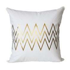 I love this throw pillow for familyroom.  Just one of them! @Steffani LeFevour  Metallic Gold Chevron Pillow Cover by KyleWayneTaylorHome on Etsy, $35.00