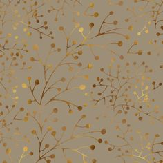 Tan & Gold brunches Seamless Pattern