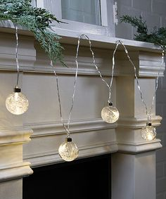 Another great find on #zulily! Frosted Ornament Lighted Garland #zulilyfinds