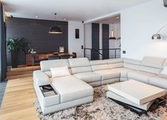 Gorgeous Interior Two Story Penthouse Apartment Boasting a Gorgeous Sophisticated Interior