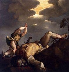 Titian, 'David and Goliath', 1542-1544, Santa Maria della Salute, Venice