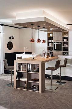 Dining Room Design, Interior Design Kitchen, Kitchen Decor, Best Kitchen Countertops, Kitchen Flooring, Küchen Design, Home Design, Open Kitchen, Home Decor Furniture