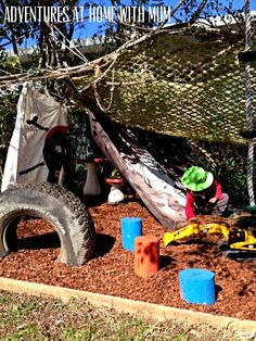 Outdoor Play Space Ideas- Creating a pirate hideaway for outdoor play