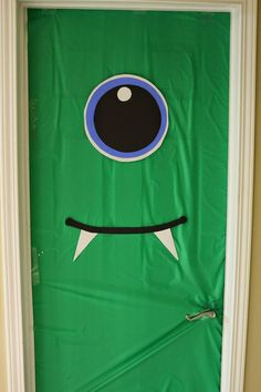 Monster Party decor | decorate your front door like a monster!