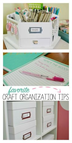 Favorite Craft Organization tips - sketching station, boxes, etc.!